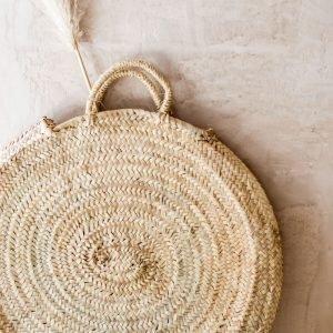 Handgeweven basket bag