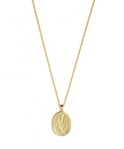 bloom necklace verguld
