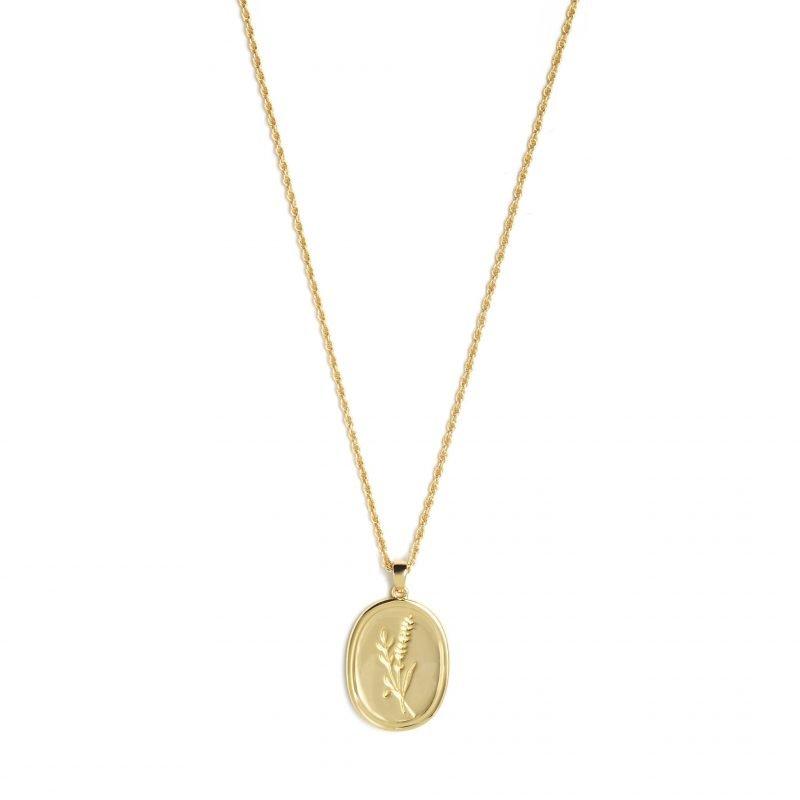 bloom necklace verguld